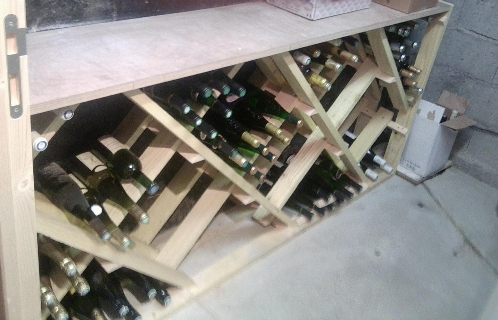 Très Plan de fabrication d'un casier à bouteilles | Forum Décoration  HI05